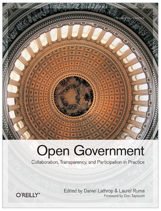 "I have a chapter in the new O'Reilly book ""Open Government: Collaboration, Transparency, and Participation in Practice,"" which you can get from Amazon. Abstract of my contribution:   Jerry Brito calls on hackers—in the sense of brilliant programmers rather than computer criminals—to liberate government data for the masses. If the government won't make data available and useful, it is up to technologists to do it for them.  Here's a free 7-chapter sneak peek of the book (PDF), and here's my chapter (PDF) titled ""All Your Data Are Belong to Us: Liberating Government Data."" Check out the whole thing because there are some amazing folks in here who contributed some really remarkable pieces."