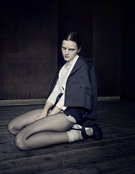 Guinevere Van Seenus for AnOther Magazine S/S 10, shot by Paolo Roversi, styled by Olivier Rizzo (via).