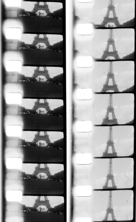 fromme-toyou:  The Eiffel Tower in frames from my 8mm home video of Paris~