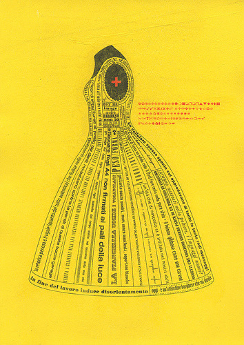 lady alphabet / in  yellow See the series of fashion/pattern related drawings here