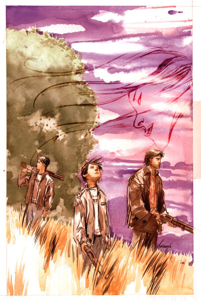 Supernatural: Rising Son #5 (DC/Wildstorm) Cover art by Dustin Nguyen