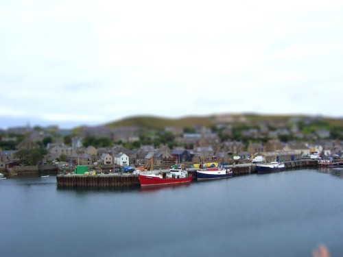 Kirkwall, Orkney Islands, 2007 - my first attempt using Tiltshiftmaker