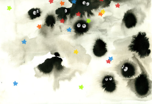 (via inscriptium, hayao-miyazaki) oh my god. fuzzies?! could it be?