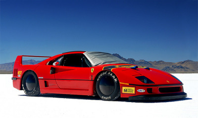 FERRARI F40 BONNEVILLE SPEED WEEK (via FLUIDIMAGES)