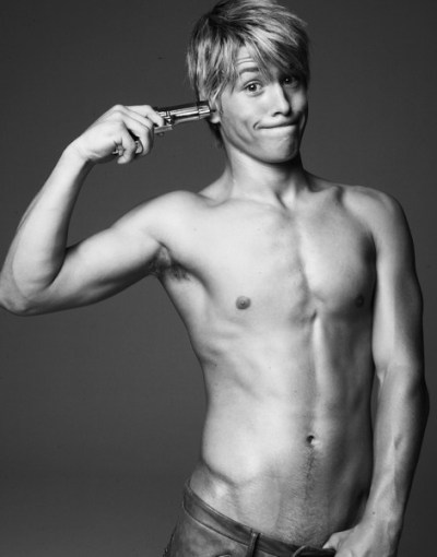 whytheyrehot:  Why He's Hot {REDUX}: His name is Mitch Hewer. If you don't know him, watch the amazing British show called  Skins. It's a hot show in itself, and he's the hottest thing in it. I mean, what's hotter than a guy who's willing to make out with other (hot) guys. Not only on screen though… He's a successful actor and model. That delicious  jawline, that perfectly tousled  hair, those delicate, yet intense eyes. And we cannot leave out that  perfectly sculpted, delectable, dare I say it? hunky, body . We can roll around in money, with other boys, what ever the  fuck  he likes.  He's  cute,  a sexy beast, and down-right fuckable.Whatever you want to call hi HE'S FUCKING BRITISH. Now, I'm 100% sure we all have a foreign boy fetish, but holy fuck, listen to that voice. Just imagine him: calling your name as his beautiful chiseled body thrusts you against a wall. Now, go clean yourself up and change your panties. YUM. I'd like to lick that lollipop. And look at this boy  dance. This little British mofo can dance in my pants any fucking time he wants. {submission}  *GASP*
