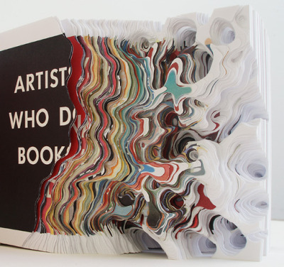 "agirlsaidtotheuniverse:  from ""Cutting Book Series with ED Ruscha: 'Artists who make pieces, artists who do books'"" eritissimilesdeo:  Noriko Ambe"