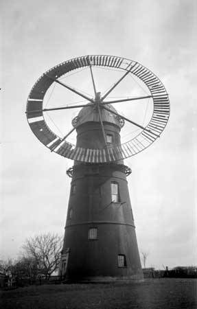 ViewFinder - Windmill at Haverhill, Suffolk The tower mill at Haverhill was one of only four windmills to be fitted with an annular sail; none now survive. The sail, which was effectively a wind wheel, was said to have been installed by the owner, Mr Ruffle, in around 1860.