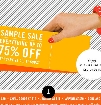 1: the kate spade sample sale is on…just a friendly heads up, click the picture to check it out.