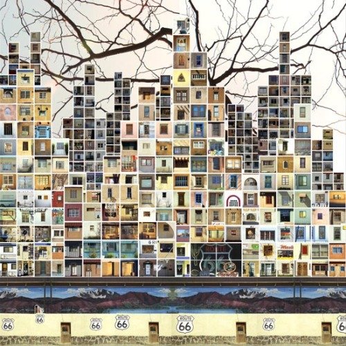 rubodewig:  mikegyi:  drawingarchitecture:  the Boxes by CHUNG FANKY CHAK Title: HWY 66, New Mexico, 2007, 5 ft x 5 ft, archival digital print