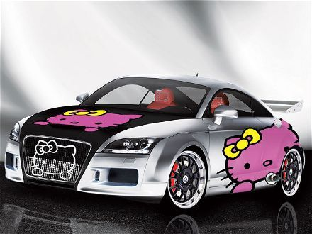 pretty hello kitty car ino damnn i want one:P