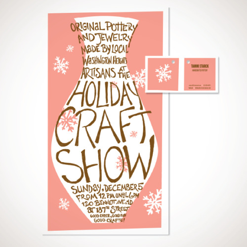 Washington Heights Craft ShowClient: WAHI Craft CollectiveA series of promotional materials — poster, hang tags, post card, shopping bags and signage — created for a holiday craft show in Washington Heights featuring the work of local neighborhood artisans.