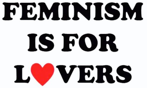 I'm a stencil! Use me as a template! Then email feminismisforlovers and tell us alllllll about it. Look up the size of whatever sticker you're using, and have at it.