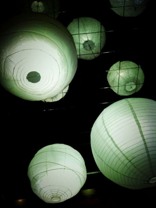 dinner with harry potter.  lanterns at sushi deli 2, gaslamp district, san diego, february 25, 2010.