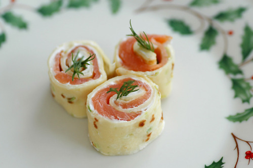 buffetspread:  Salmon Pinwheels | Savoring Time in the Kitchen