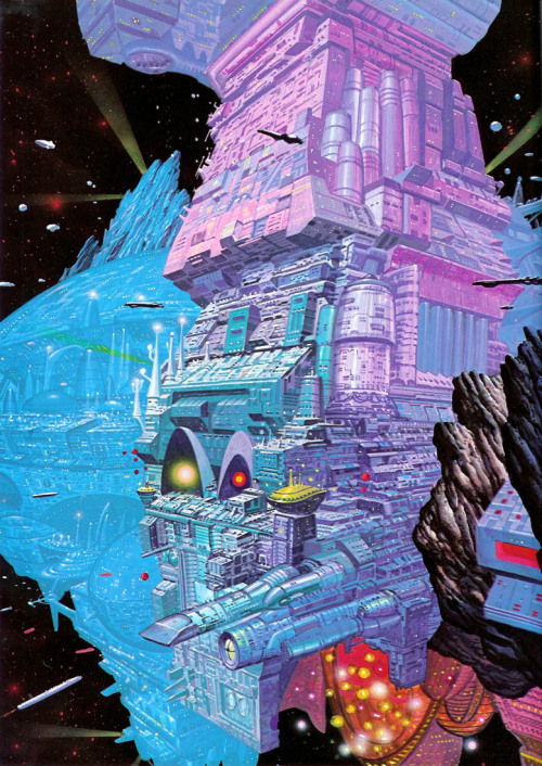 fuckyeahsciencefiction:  scienceetfiction:  The artificial planet Point Central in the french comics series Valérian (from 1910 to 2010). more info here ricp:  vata18