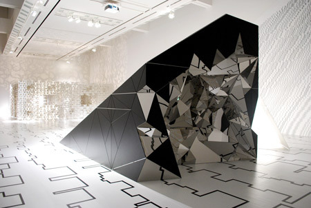"Called Element by Cecil Balmond at Tokyo Opera City Art Gallery, ""the exhibition presents Balmond's thinking about geometry, pattern and space through three installations."" via dezeen"