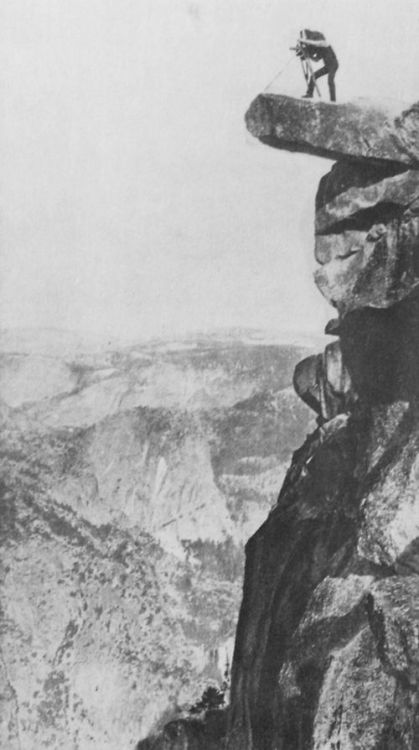William H. Jackson at Observation Point in Yosemite National Park,1873 via Zeno.org [for membrane]