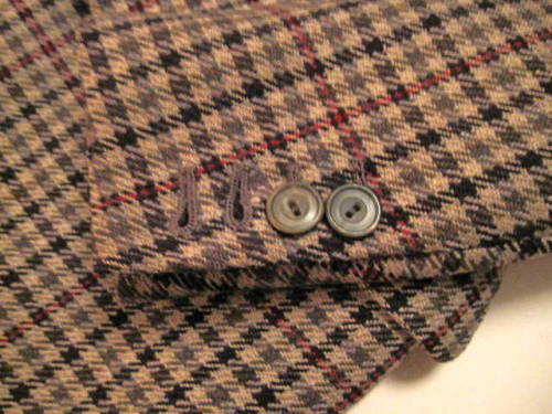 What a coat. That's what a buttonhole looks like, folks.