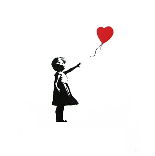I think that this is one of my all time favourite paintings. Banksy is such an unbelievably impressive artist, and his work is always so thought-provoking and interesting. I love all of his pieces and just think that his ideas are so clever and creative.