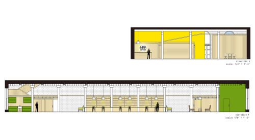 final interior elevations finalized with Photoshop CS4.