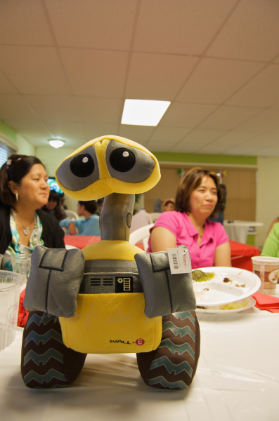 Wall-E! And my Mom in the background.