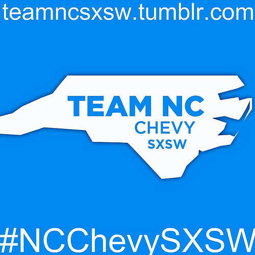 Team NC logo (square w/ url + tag) (via the rab) I want this in Red next. Follow teamncsxsw.tumblr.com starting Monday March 8th.