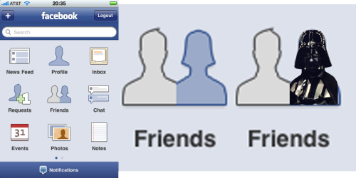 Cannot Unsee: Facebook wants to link everyone up with the dark side.  (Via mooshoo)