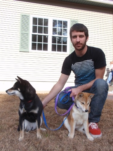 This is Alex and his lovely Shiba Inu's