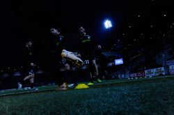 thebeautifulgameblog:  Players warming up before a Ligue 1 match between AS Nancy and Grenoble Foot 38. via Flickr   i really really really like this.
