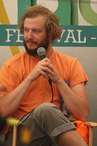 Justin Vernon of Bon Iver and Volcano Choir.  Justin also appears on the brand new Anais Mitchell release Hadestown, out now on Righteous Babe Records. (via kevin_james)