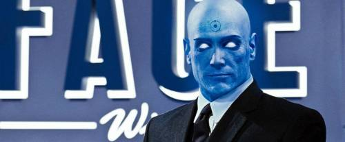 I sent a message to Dr Manhattan - away on holiday on Pandora - to tell him that he's welcome to teleport himself to my private screening of Watchmen Director's Cut tonight - but only if he promises to wear some clothes. (It only seems fair to invite him round for some blu-ray, right?)