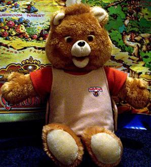 Remember Teddy Ruxpin?  Holy shit what a creepy mash up of evil genius.  The doll itself is not only androgynous and cuddly enough to sneak its way into any child's toy closet but Chucky-esque enough to haunt their dreams as well.  Sure it looks innocent enough here but remember these things talked…the perfect recruitment tool for communists.