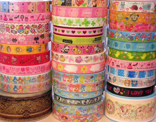 Are these rolls of decorative tape or ribbon ??? If they're tape … I WANT! | carcasses | … | kawaiicandy |