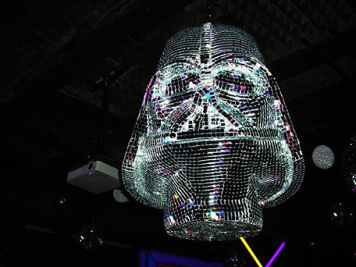 thedailywhat:  Star Wars Thing of the Day: That's no moon, that's a Darth Vader disco ball, etc. [technabob.]
