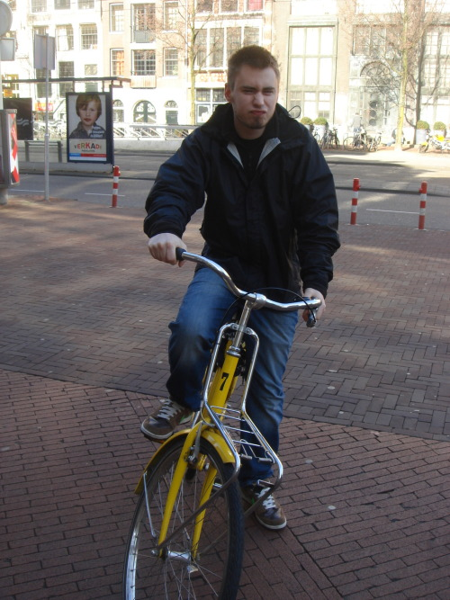 I wish I could go bike riding in Amsterdam again.