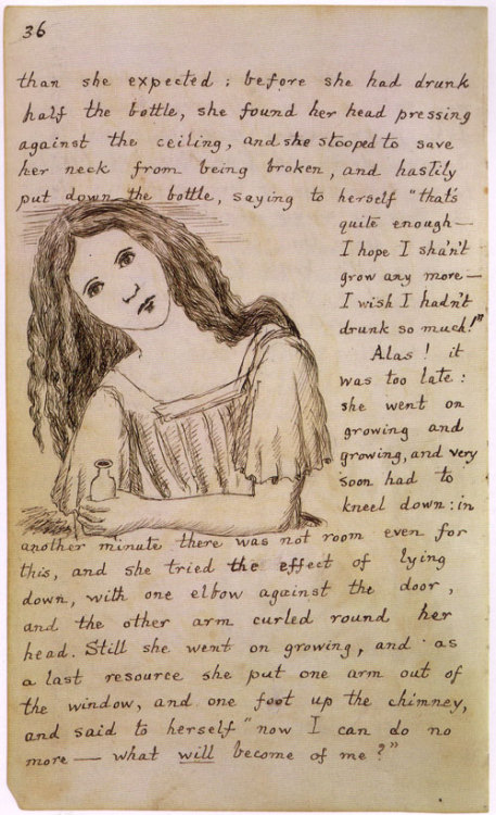 deadwriters:  A page from Carroll's original manuscript.