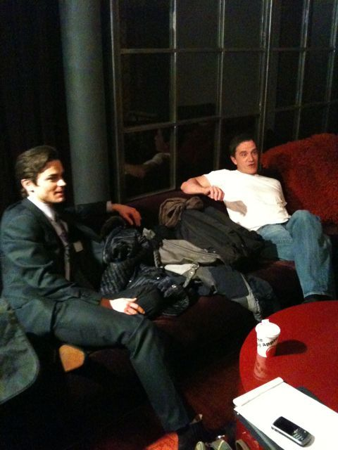 Matt and Tim waiting to film that USA Network special cross promo!