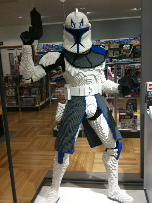 legoexpress: LEGO Clone Trooper. John Lewis, St David's 2, Cardiff. Submitted by jensings UM, AWESOME!!