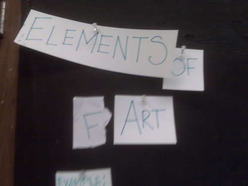 Elements of (F)Art. Yes I have kept it up there. They thought they were so clever.