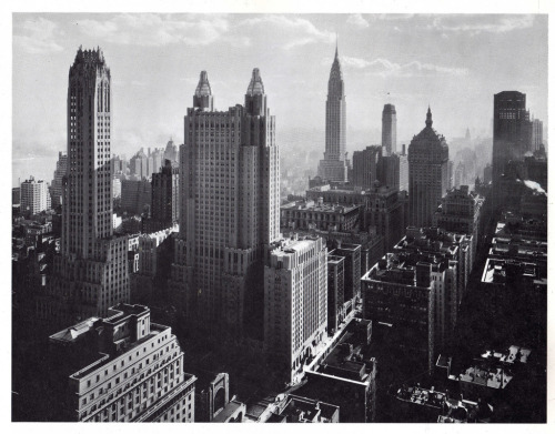 The new Park Avenue skyscrapers looking southeast from DuMont Building, 1932   via decoarchitecture: skyscraper: wirednewyork.com