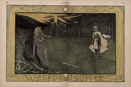 Walpurgis Night by Fidus from Jugend Magazine,1896 via billy'z faves