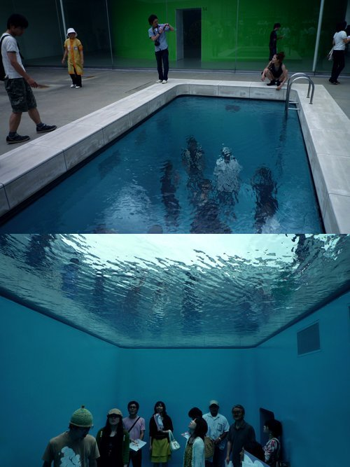 "aaaround:  (via xdove007)  ""Swimming Pool"" installation by Leandro Erlich, The 21st Century Museum of Contemporary Art. Kanazawa, Japan."