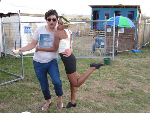 Solange and Ed in Australia at the Falls Festival (via Solange's blog)