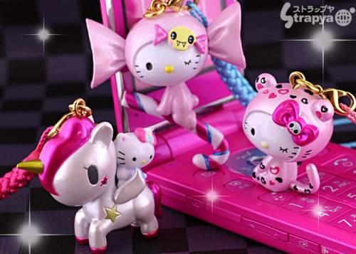 Tokidoki for Hello Kitty Cellphone Charms  Submitted by ismilenusmile
