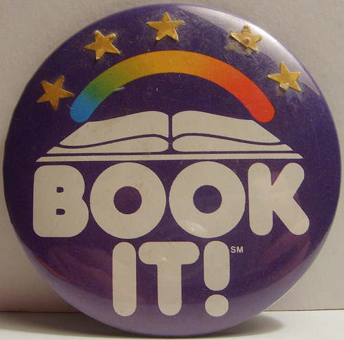 "careyjeremiason:  imremembering:  Pizza Hut's ""Book-It"" Program (Remembered by interspecieslove)   I was TOTALLY a Book It nerd. Got many a pan pizzas (i.e. I read a lot of books)."