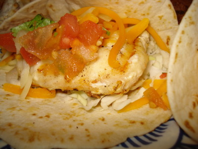close-up of my fish taco.  i love grouper so much that i practically did a photo shoot with these tacos at the restaurant.  i'm sure i got some strange looks and whispers about my camera session with my food.  :)