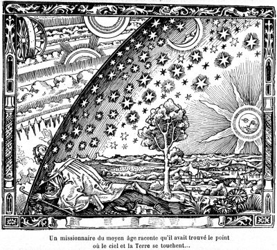 "marriedtothemuse:  blessedrelief:  The Flammarion woodcut - anonymous wood engraving, 1888 In a book: L'atmosphère: météorologie populaire (""The Atmosphere: Popular Meteorology"").   From the moment I first saw this wood engraving, in the 1960's - (perfect timing!), I was enraptured."