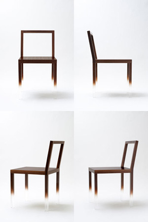 haricot:  Fade-Out Chair by Nendo