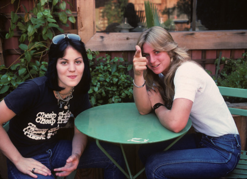 I really dig this one of Joan and Sandy. I took it in 1977 in the outside SIR studios in Hollywood. We were all so young and cute back then. Whoever thought that thirty years later there would be a movie about The Runaways! Photo by Brad Elterman