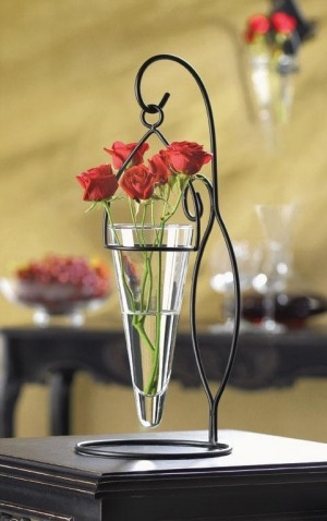 Tapered Hanging Cone Vase - Clear :  wwwwuslucom home decore